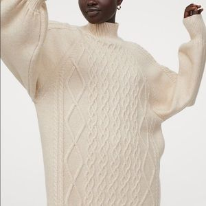Cable-knit sweater/tunic/ jumper from H&M